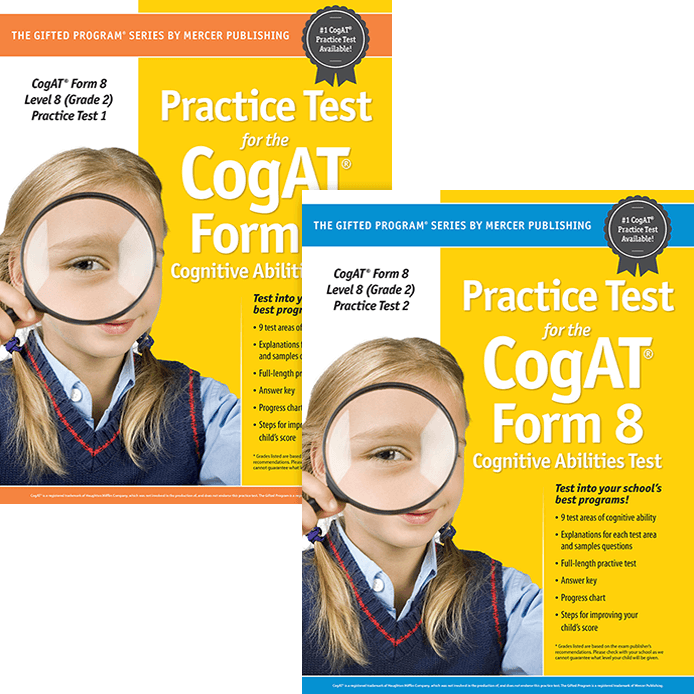 CogAT Test Prep Materials for Grade 2 Primary