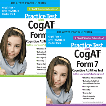 Cogat Grade 3 level 10 form 7 Practice Tests 1 and 2