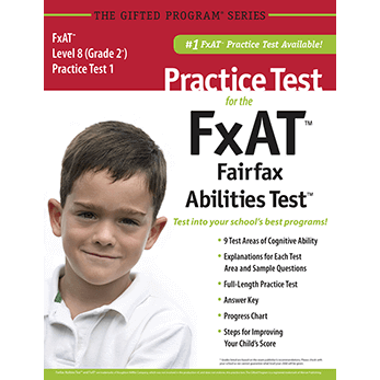 CogAT grade 2 Fairfax County FxAT Practice Test 1 eBook