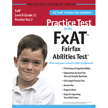 CogAT grade 2 Fairfax County FxAT Practice Test 2 eBook