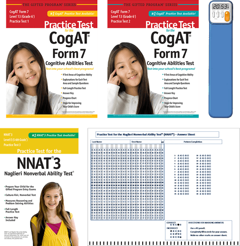 Total Study Package - CogAT Grade 6 level 13 test 1 and 2