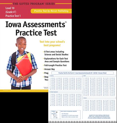 Iowa Assessments Test Prep Materials for Grade 4