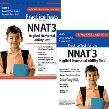 NNAT3 Grade 1 Level B Practice Test 1, 2, and 3